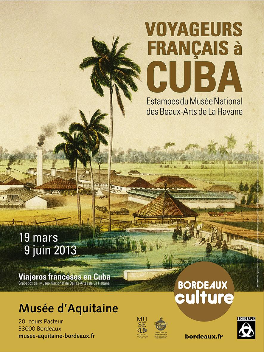 affiche voyageurs français à Cuba