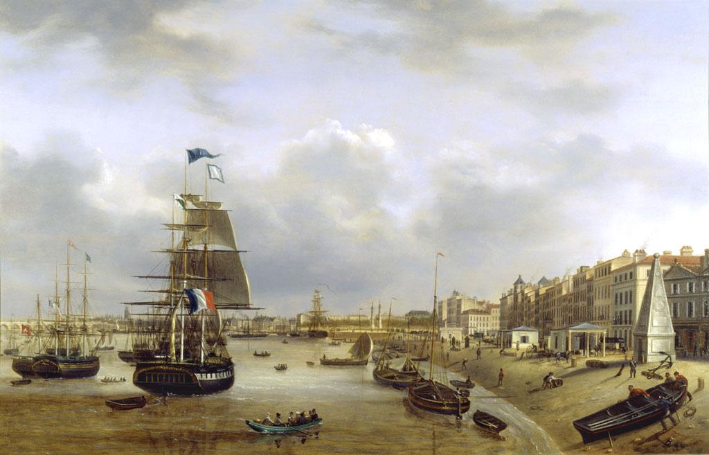 Vue du quai des chartrons le site officiel du mus e d - Tableau du port de bordeaux par vernet ...