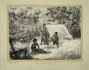 Théodore BRAY, Trois nègres marrons à Surinam, collection musée d'Aquitaine