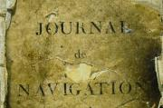 Journal de bord du navire Le Patriote, photo J.-M.Arnaud, mairie de Bordeaux