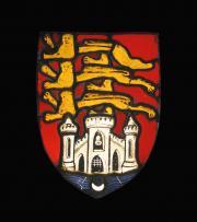 Vitrail aux armes de Bordeaux. XVe siècle. Verre et plomb. Photo J. Gilson, mairie de Bordeaux
