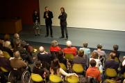 Daniel Gonzalez, responsable du service culturel, entouré de Marie Subra, Institut Cervantès et David Mauas cinéaste
