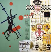 Gordon Bennett, Notes to Basquiat. in the future art will not be boring, 1999, Coll. Wereldmuseum Rotterdam