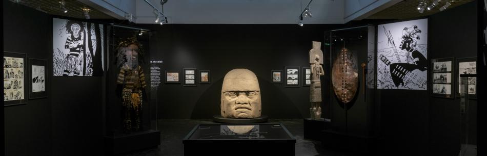 Vue de l'exposition Hugo Pratt, photo L. Gauthier, mairie de Bordeaux