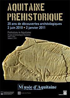 Affiche de l'exposition Aquitaine préhistorique, en 2010