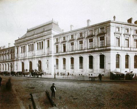 Faculté des sciences et des lettres de Bordeaux, vers 1886. Détail. Photo graphie de Jules-Alphonse Terpereau © Université Bordeaux Montaigne