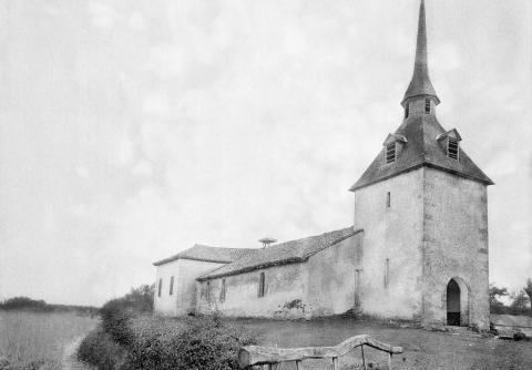 Eglise de Luglon, de la portène 18.05.1990