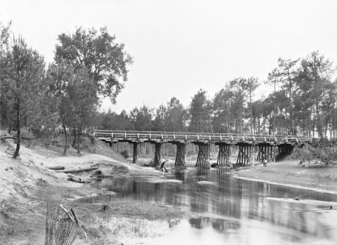Trensacq, pont de la Leyre, de 100 pas Nord du pont, 15 juillet 1916