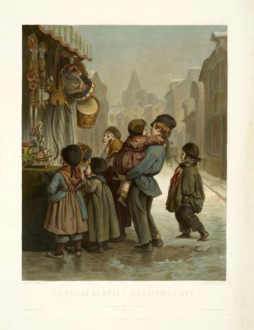 La Veille de Noël, gravure d'après Pierre-Edouard Frère, 36,4 x 29,1 cm, Collection Goupil – Musée d'Aquitaine