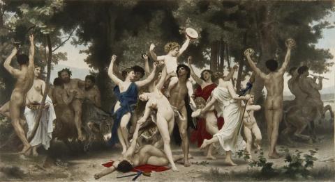 La Juventud de Bacchus, 1884.Segun Bouguereau.