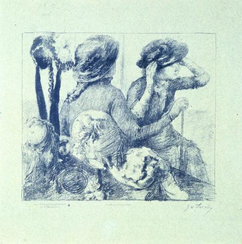 « Chez la modiste » d'après Degas