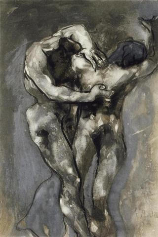 « Les Hérétiques », d'après Auguste Rodin (1840-1917), mairie de Bordeaux