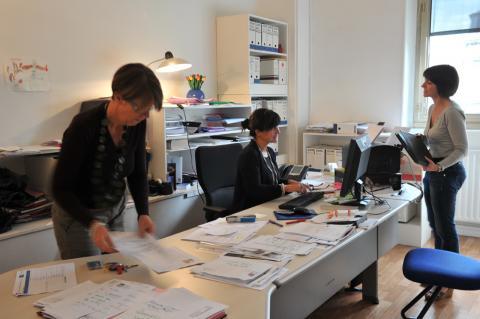 Service administratif. Photo L. Gauthier mairie de Bordeaux