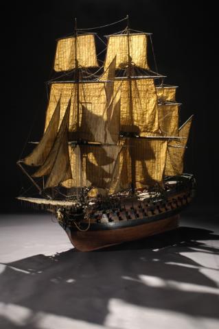 Photo de la maquette du navire le Conquérant