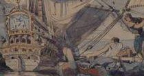 Détail d'une des 6 esquisses, Pierre-Louis Cazaubon