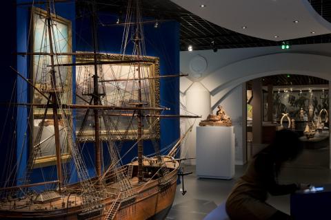 Vue des nouvelles salles Bordeaux port(e) du monde - photo Lysiane Gauthier mairie de Bordeaux musée d'Aquitaine