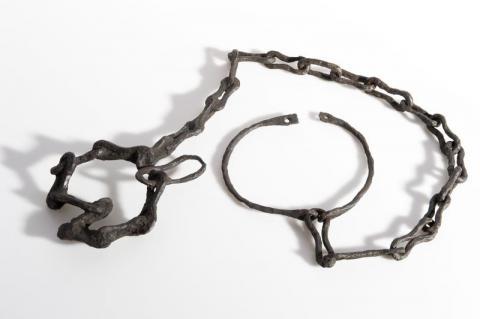 Foto de un argolla de esclavo, Lacoste, Mouliets-et-Villermatin (Gironda)