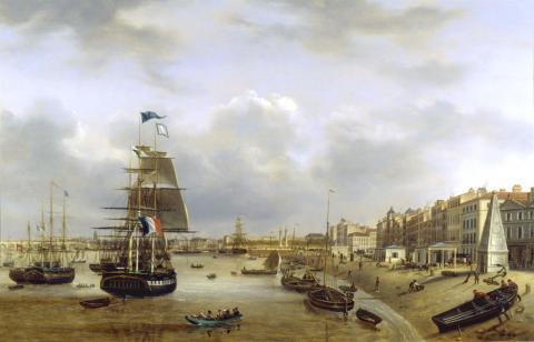 View of the Quai des Chartrons by Louis Burgade (c) mairie de Bordeaux