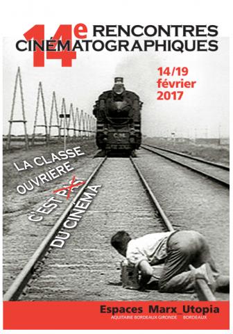 """Affiche 14e Rencontres cinématographiques """"La classe ouvrière c'est pas du cinéma"""""""