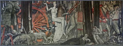 M. Roganeau, La forêt landaise, 1925, Musée d'Aquitaine