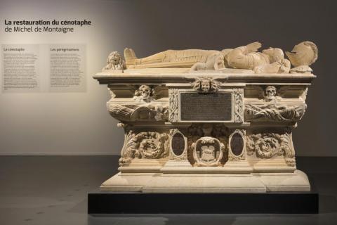 Le cénotaphe de Montaigne, photo Lysiane Gauthier, mairie de Bordeaux