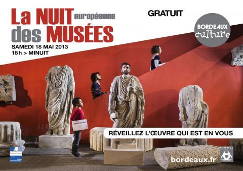 Affiche Nuit des musées 2013 à Bordeaux