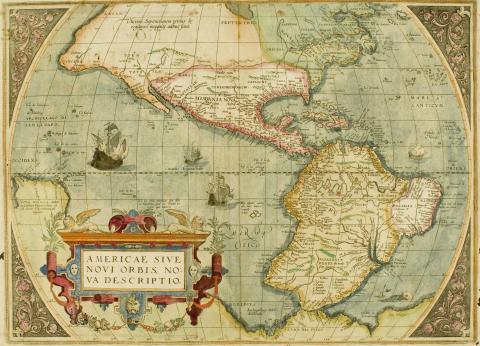 Carte du nouveau monde. Collection Chatillon musée d'Aquitaine 2003.4.36