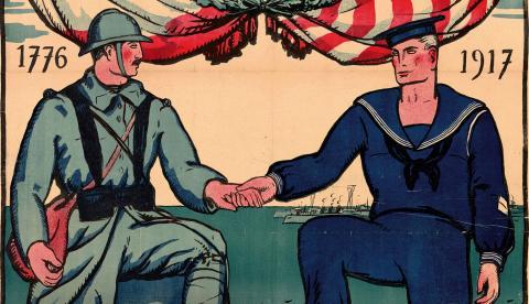 Affiche 1917 : Voilà les Américains !