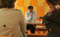 Nicolas Caraty, médiateur référent accessibilité au musée d'Aquitaine. Photo L. Gauthier, mairie de Bordeaux