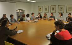 Réunion avec les responsables de collections. Photo L. Gauthier mairie de Bordeaux