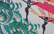 """atelier Couleurs Surf, exposition temporaire """"La déferlante Surf"""""""