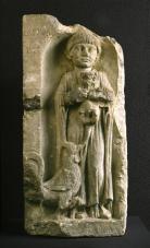 Estela funeraria de una niña