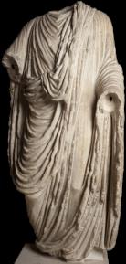 Statue de l'empereur Claude. Collection antique du musée d'Aquitaine. Photo mairie de Bordeaux
