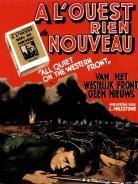 """Affiche du film """"A l'ouest rien de nouveau"""""""