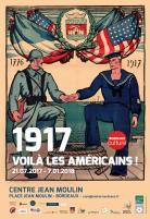 René Buthaud, 1776-1917. Affiche de propagande témoignant de l'amitié franco-américaine. Archives Bordeaux-Métropole, © L. Gauthier mairie de Bordeaux