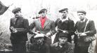 J. Nancy (écharpe rouge) et ses adjoints de la section spéciale de sabotage © DR