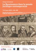 La Renaissance dans la pensée juridique contemporaine, D.R.