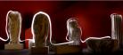 Light painting autour des statues des salles gallo-romaines du musée