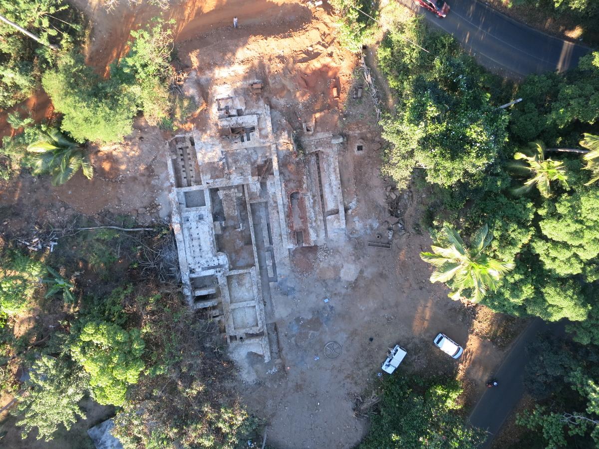Vue aérienne du chantier de fouilles du domaine de Coconi. DroneGo